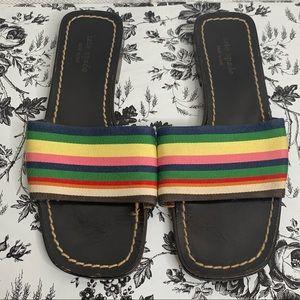 Kate spade multi color slide sandals